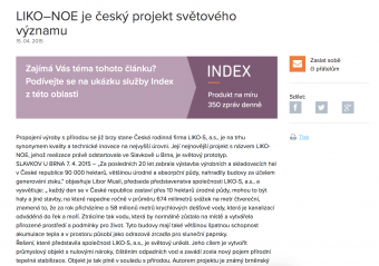 LIKO–NOE is a Czech project of worldwide significance